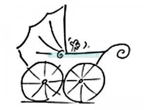 tampon-en-bois-landeau-avec-main-bebe-artemio-45-x-45-cm