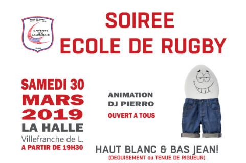 Soirée Ecole du Rugby le 30 mars