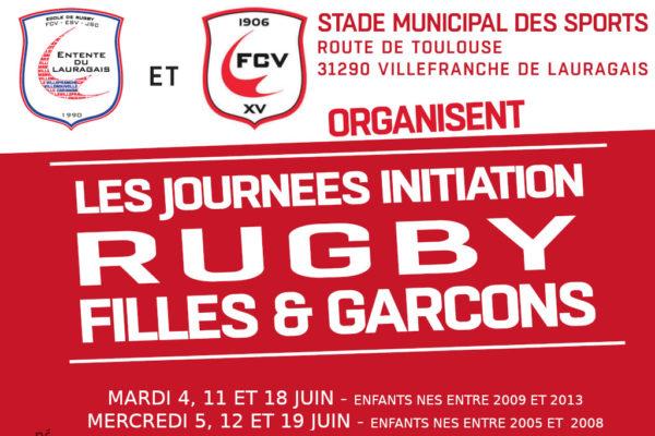 Les Journées Initiation Ecole de Rugby Entente Lauragais