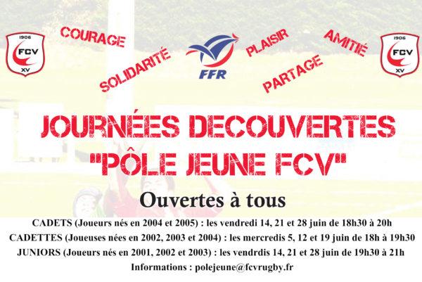 Journées Découvertes Pôle Jeunes FCV