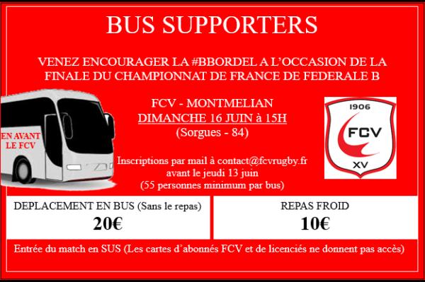 Bus Supporters Finale Championnat de France de Fédérale B
