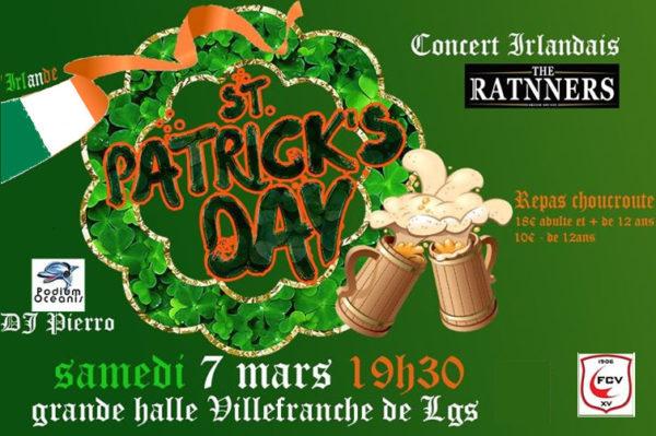 Le FCV fête la Saint-Patrick le 7 mars