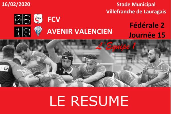Fédérale 2 : FCV/Valence d'Agen - Le Résumé