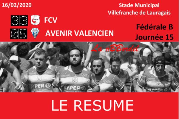Fédérale B : FCV/Valence d'Agen - Le Résumé